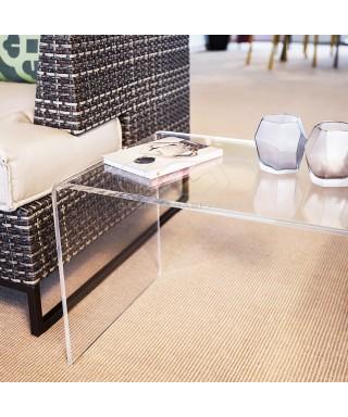 Tavolino a ponte 75x20 tavolo da salotto in plexiglass trasparente