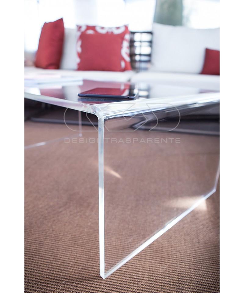 SU MISURA Tavolino a ponte 65x65h50 tavolo da salotto trasparente