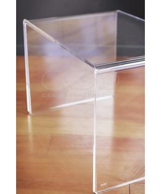Acrylic coffee table cm 80x30 lucyte clear side table plexiglass