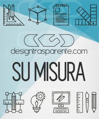 Mensole Su Misura 75x10 in plexiglass trasparente