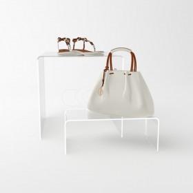 Espositore cm 15 alzata in plexiglass rialzo per vetrine e negozi
