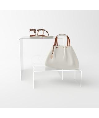 Espositore cm 20 alzata in plexiglass rialzo per vetrine e negozi