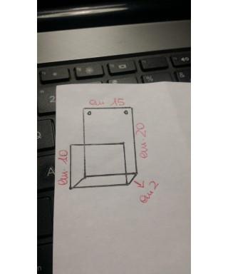 2 contenitori in plexiglass trasparente da appendere su misura