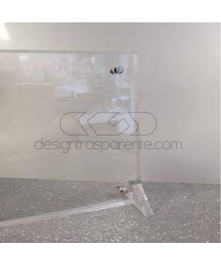 2 Cornici portafoto da tavolo in plexiglas trasparente Su Misura