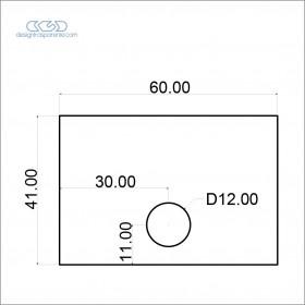 Pannello in plexiglass grigio topo taglio laser su misura