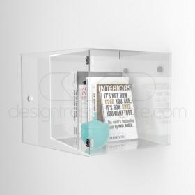 5 cubi vetrina in  plexiglass trasparente con sportello su misura