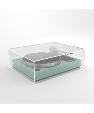 Turntable cover box 45x35H10 transparent acrylic