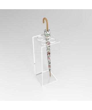 Portaombrelli design minimal cm 25x25h70 in plexiglass trasparente