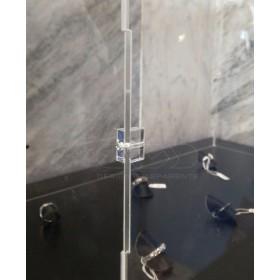 Teca 25x25h30 vetrinetta da montare con viti in plexiglass trasparente