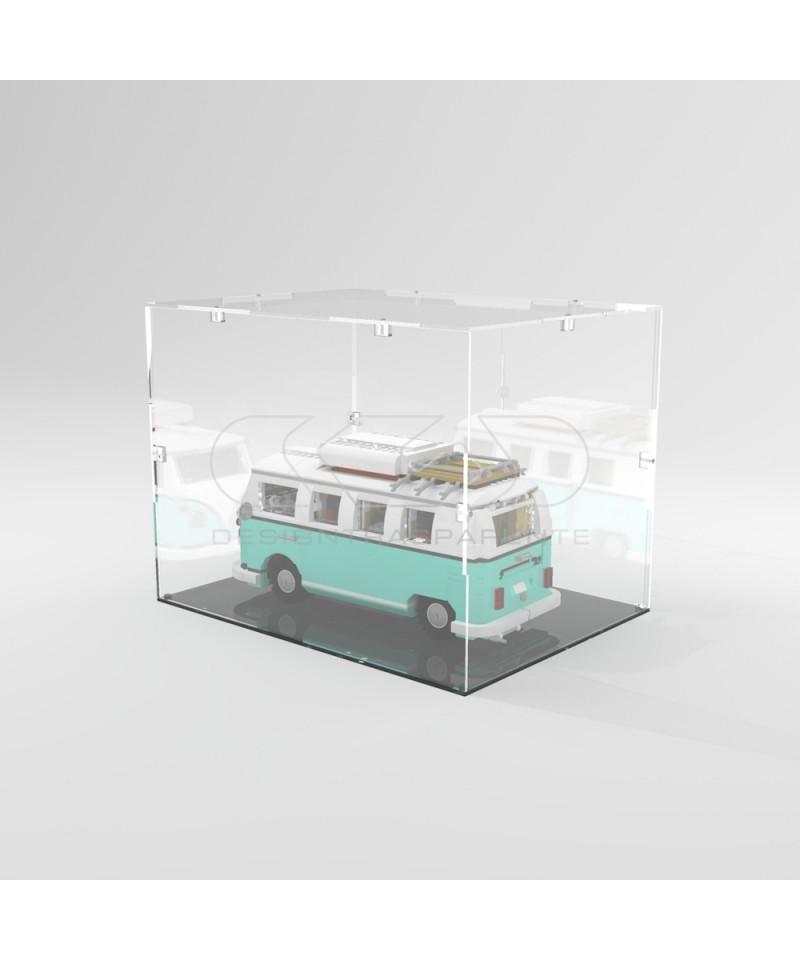 Teca 25x25h40 vetrinetta da montare con viti in plexiglass trasparente