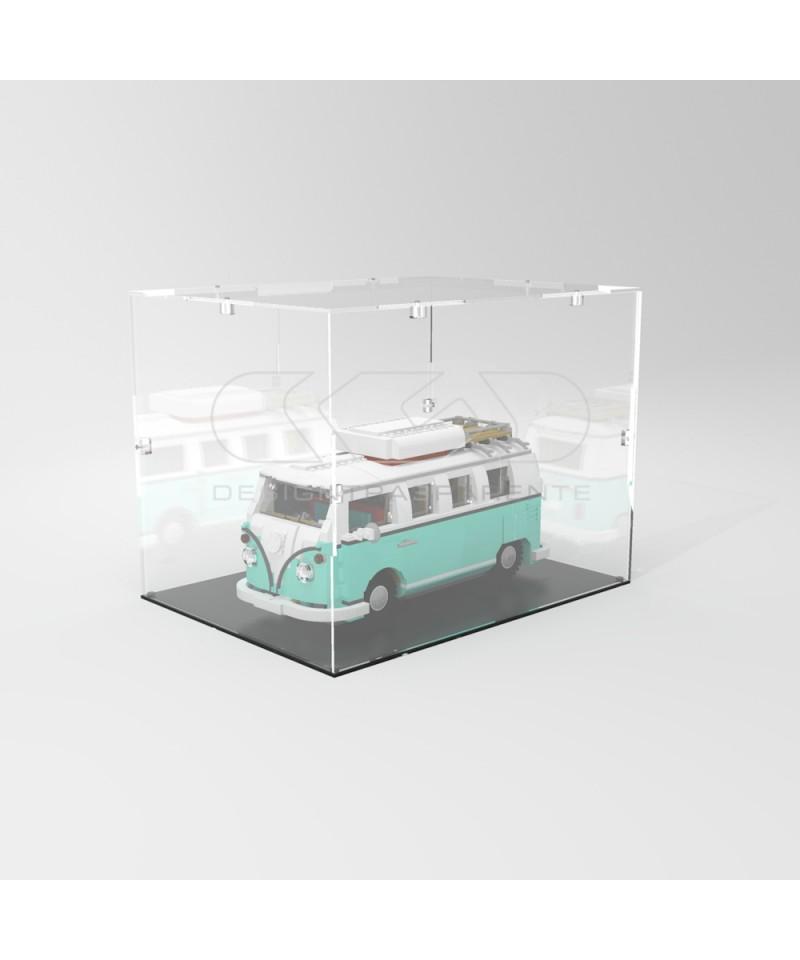Teca 30x30h25 vetrinetta da montare con viti in plexiglass trasparente