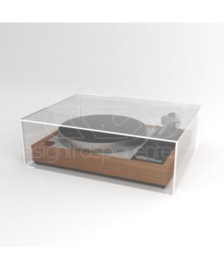 Coperchio per giradischi 45x35H15 su misura in plexiglas trasparente