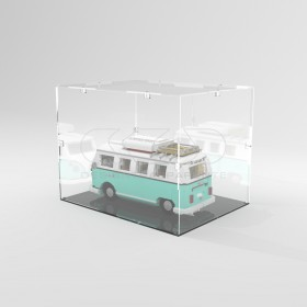 Teca 35x25h20 vetrinetta da montare con viti in plexiglass trasparente