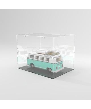 Teca 40x25h40 vetrinetta da montare con viti in plexiglass trasparente