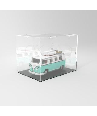 Teca 40x40h15 vetrinetta da montare con viti in plexiglass trasparente