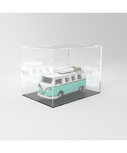 Teca 40x40h50 vetrinetta da montare con viti in plexiglass trasparente