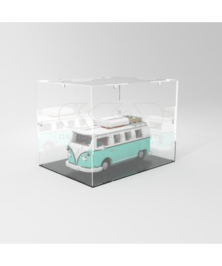 Teca 40x40h60 vetrinetta da montare con viti in plexiglass trasparente