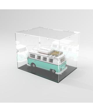 Teca 45x30h10 vetrinetta da montare con viti in plexiglass trasparente