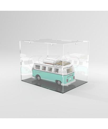 Teca 50x25h15 vetrinetta da montare con viti in plexiglass trasparente