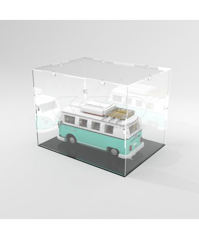 Teca 50x30h35 vetrinetta da montare con viti in plexiglass trasparente