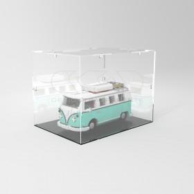 Teca 55x25h35 vetrinetta da montare con viti in plexiglass trasparente