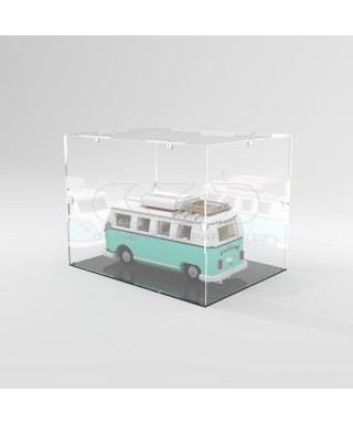 Teca 55x25h45 vetrinetta da montare con viti in plexiglass trasparente