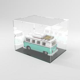 Teca 55x40h20 vetrinetta da montare con viti in plexiglass trasparente