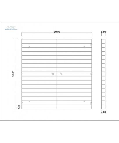 Vetrina da appendere in plexiglass trasparente cm 90x90