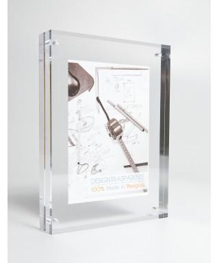 12 Cornici SU MISURA da tavolo cm 10x12 portafoto in plexiglass trasparente.