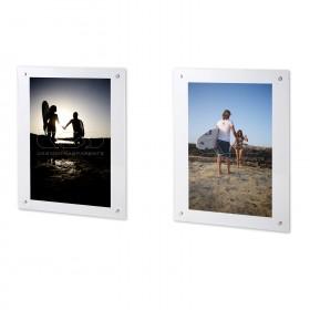 Cornice a giorno cm 50X65 in plexiglass con gancio trasparente