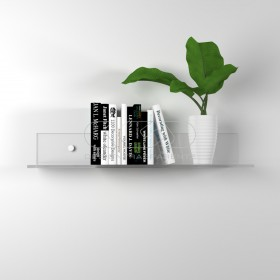 Shelf cm 15x15 in high thickness transparent acrylic for books