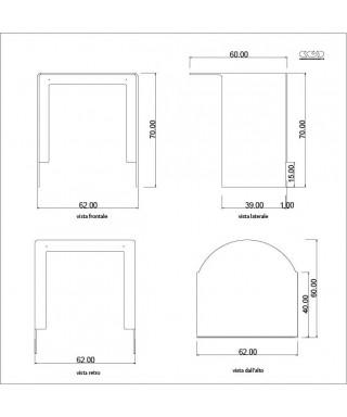 Tavolo consolle in plexiglass trasparente su misura 60x60h70