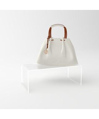 Alzatina 45x30H15 in plexiglass trasparente supporto per esposizione