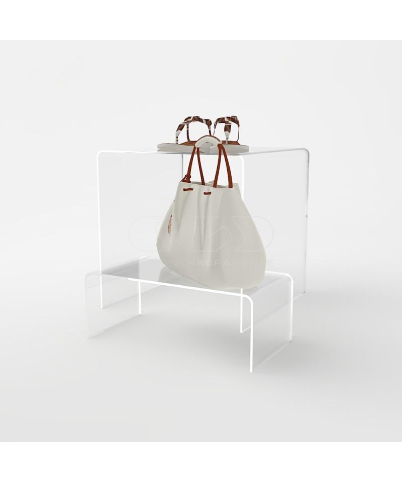 Alzatina 45x30H15 in plexiglass trasparente supporto per ...
