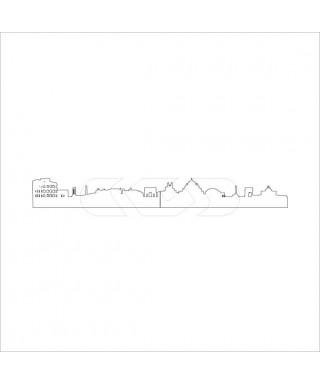 Skyline Roma 160 paracolpi e battisedia in plexiglass colorato adesivo