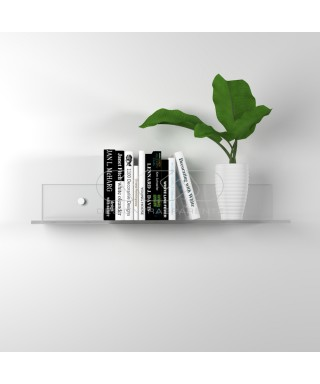 Shelf cm L 25 in high thickness transparent acrylic for books
