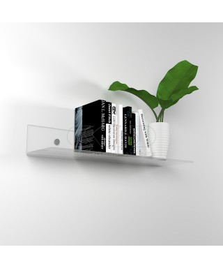 Shelf cm L 65 in high thickness transparent acrylic for books