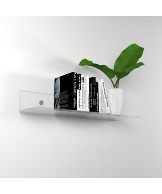 Mensola cm L 90 in plexiglass trasparente alto spessore per libri