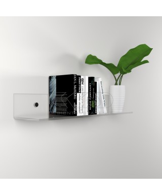 Shelf cm L 95 in high thickness transparent acrylic for books