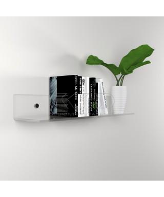 Mensola cm 75x30 in plexiglass trasparente alto spessore per libri