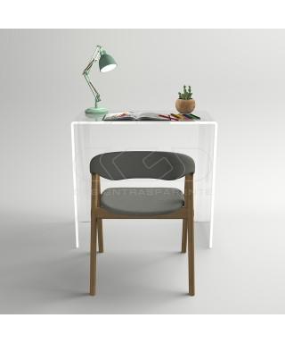 Consolle scrivania cm 50 scrittoio in plexiglass trasparente