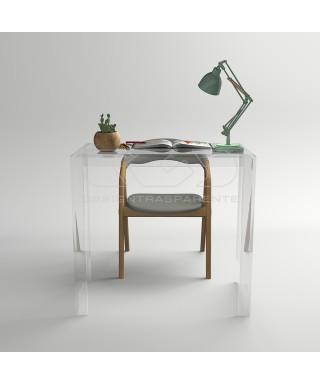 Consolle scrivania cm 60 scrittoio in plexiglass trasparente