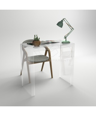 Console desk cm 70 transparent acrylic writing desk