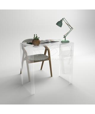 Consolle scrivania cm 70 scrittoio in plexiglass trasparente