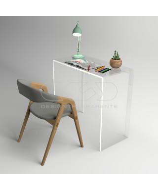 Consolle scrivania cm 80 scrittoio in plexiglass trasparente