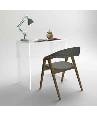 Consolle scrivania cm 90 scrittoio in plexiglass trasparente