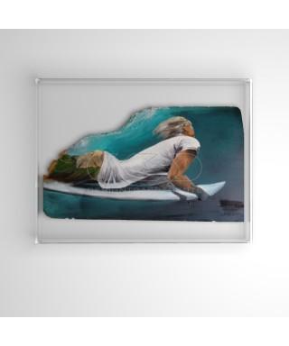 Lienzos y pinturas cm 25x40 caja de protección marco de metacrilato