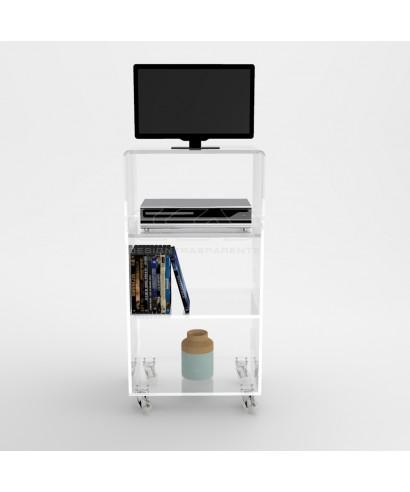 Carrello tv con ripiani equidistanti 50x40H80