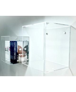 Mensola Cubo 25x25x25 in plexiglass trasparente