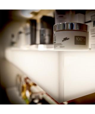 Mensole luminose in plexiglass bianco cm L99P20H7